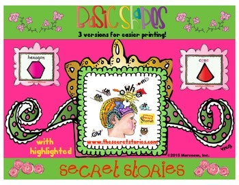 FREE Secret Stories® Math Secrets Shape Anchors
