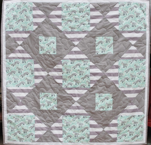 Fox and Stripes Baby Quilt