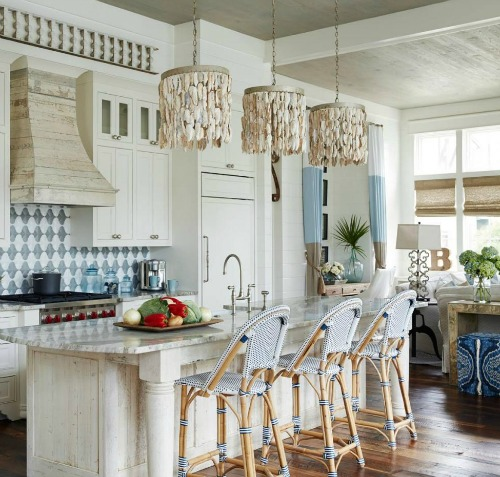 An Elegant And Sustainable Florida Home With Fantastic Views: Grand Coastal Beach House In Pastel Blue & Sandy Beige