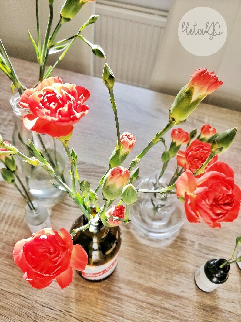 Nejlika , kukka-asetelma, blomarrangemang, halpa, edullinen, helppo, billig, lätt