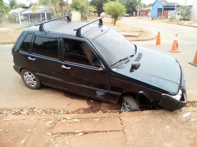 Jornalista é socorrido ao hospital após tombar carro em Pimenta Bueno