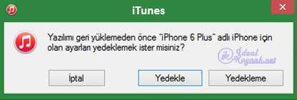 iPhone Fabrika Ayarlarına Dönme