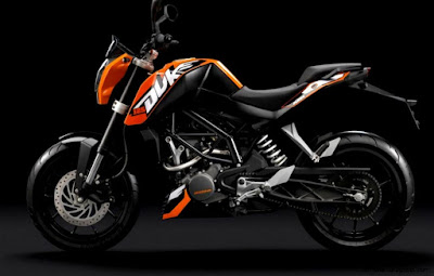 KTM 200 Duke side angle hd image