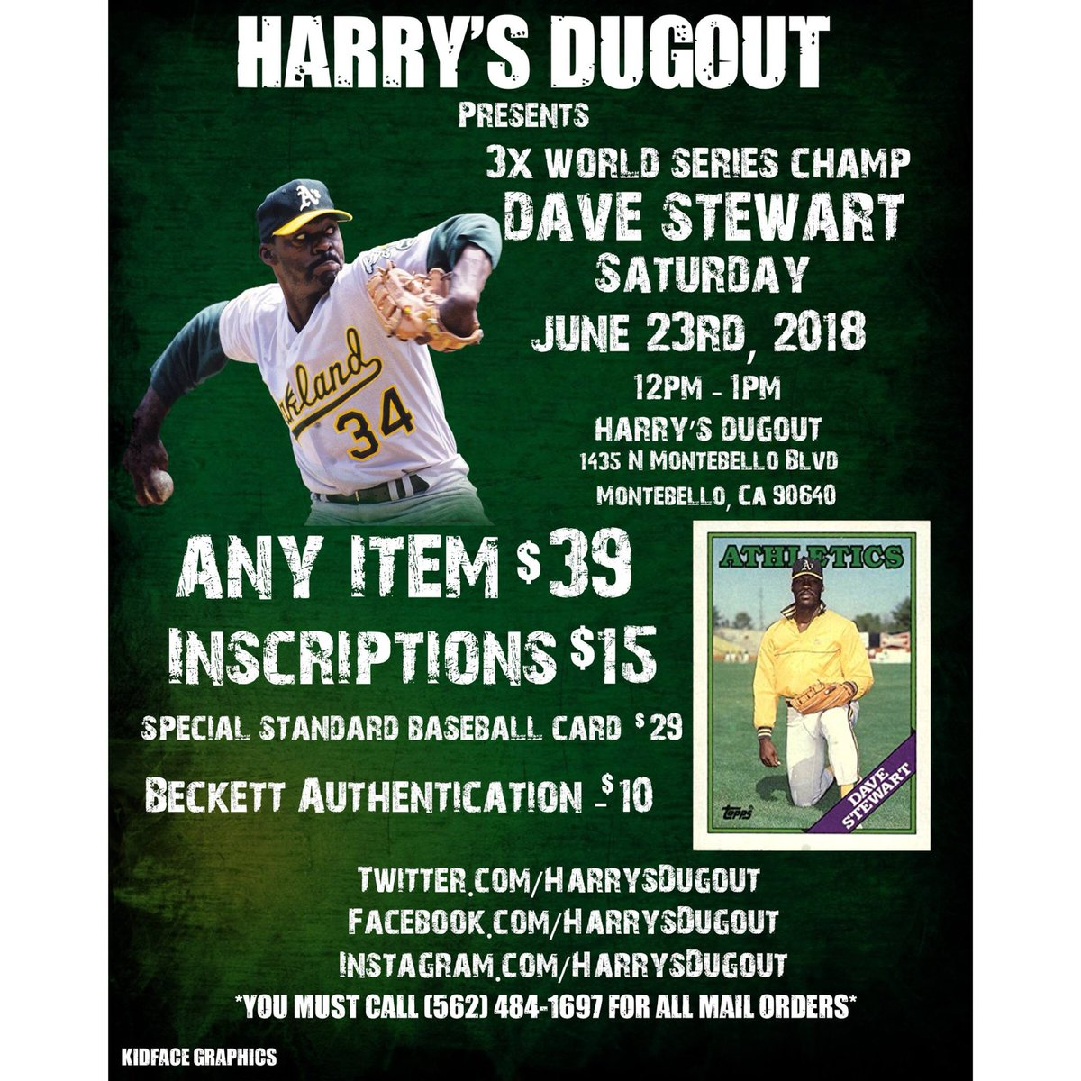 Dodgers Blue Heaven Weekend Autograph Opportunity Dave Stewart And