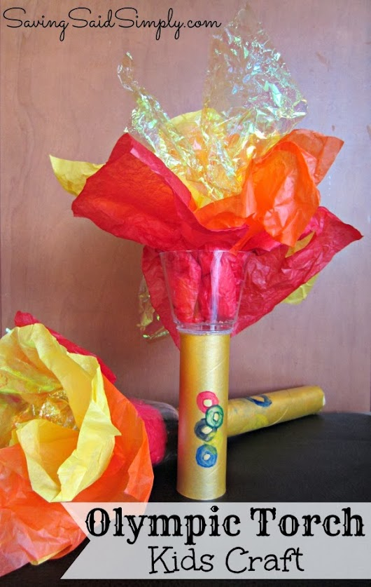 Olympic Torch Kids Craft #Olympics