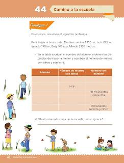 Apoyo Primaria Desafíos Matemáticos 4to. Grado Bloque III Lección 44 Camino a la escuela