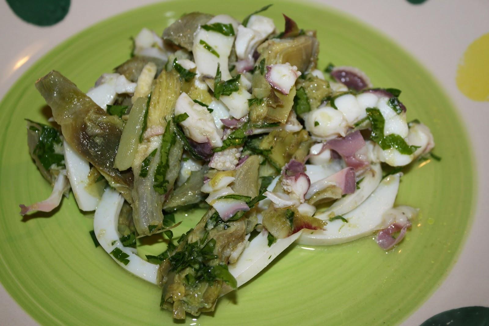 La cuciniera moderna insalata seppie e carciofi for Ricette con carciofi