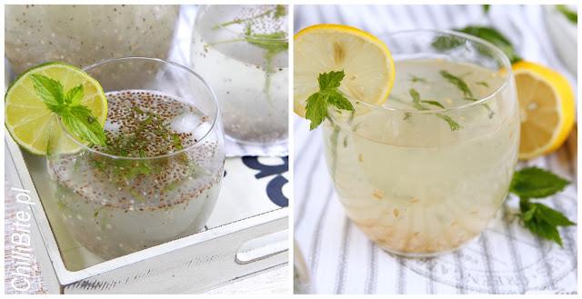 lemoniada z chia lub siemieniem lnianym
