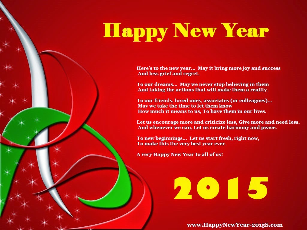 New Year Poems Happy New Year 2014 Wishes Quotes: LA SOLIDARIDAD: Enjoy And Have A Fabulous And Wonderful