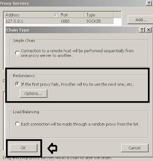 Setting Chain Type Proxifier