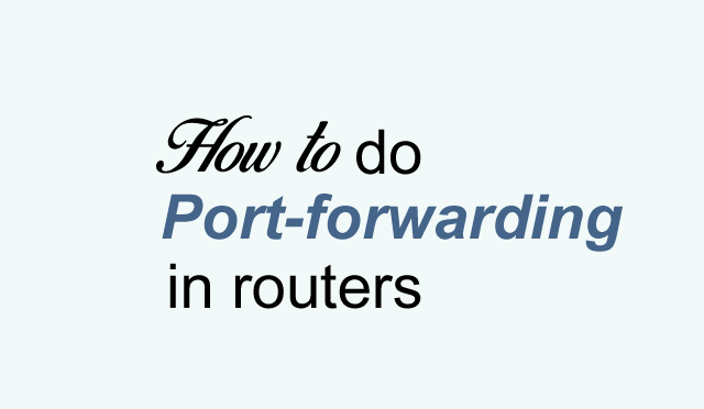 How to do port-forwarding in TP-link router