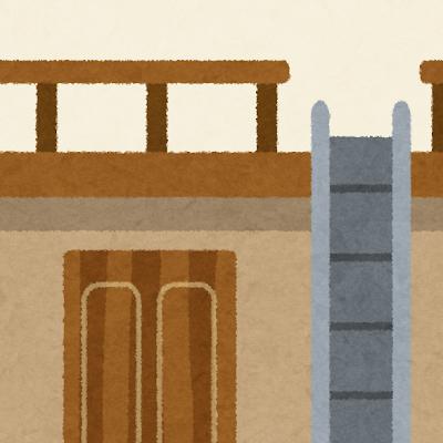 ロフト・屋根裏部屋のイラスト(室内風景)