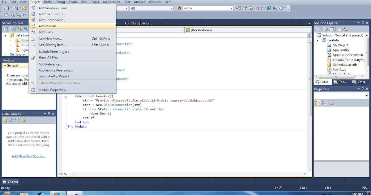 Cara Membuat Koneksi Database Access Ke VB.NET - JAGOAN KODE