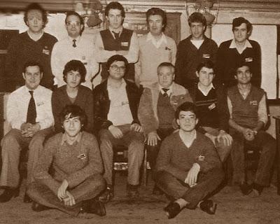 Componentes del equipo de 2ª categoría del Club Ajedrez La Lira en 1979