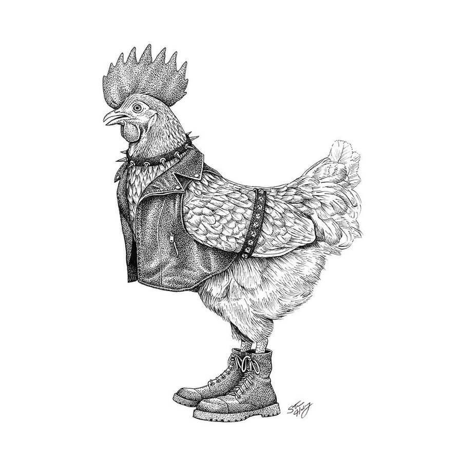 05-Punk-Rock-Rooster-Steve-Habersang-www-designstack-co