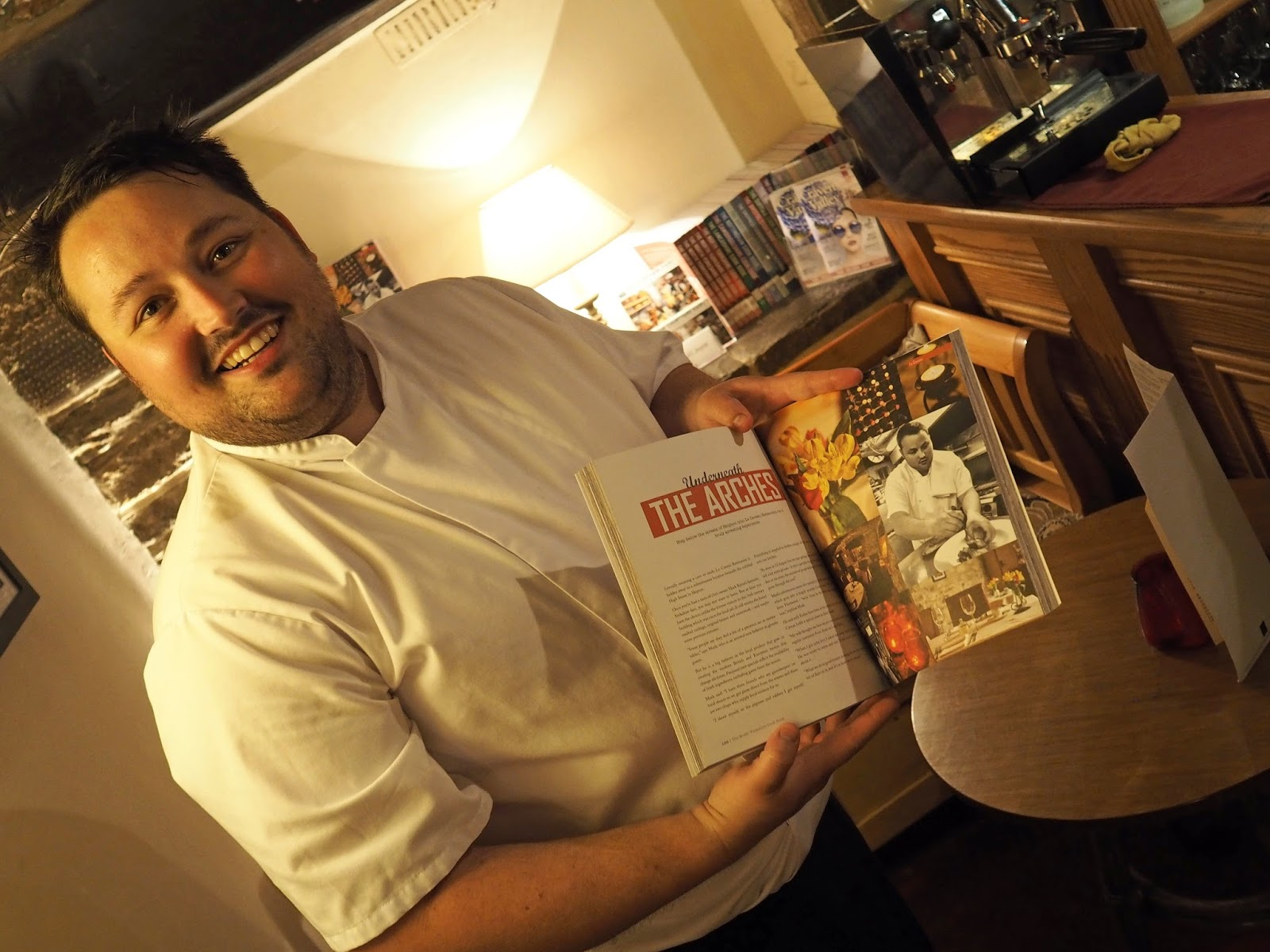 Mark Byron, owner and head chef at Le Caveau, excellent French restaurant in Skipton, North Yorkshire