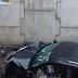 Carro colide com parede e cai no túnel do prolongamento da Prudente de Morais