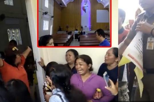 Tangisan Jemaat Greja Yang Di segel Di Jambi: Ini Bukan Tempat Maksiat, Tolonglah Kami Tuhan