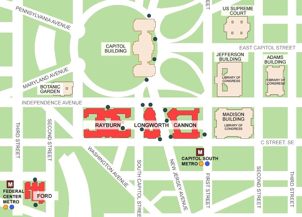 Capitol Hill Map Of Capitol Hill Washington Dc