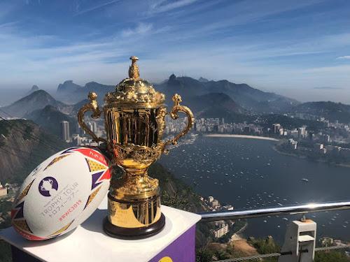 La Webb Ellis Cup llegó a Brasil #TrophyTour #RWC2019