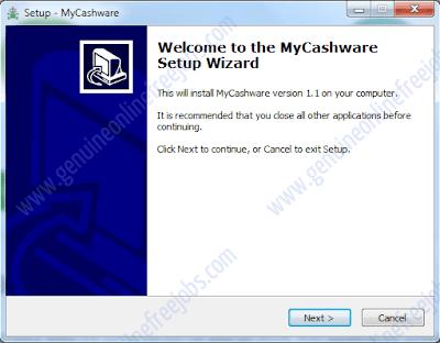 My cashware installation procedure, step -1