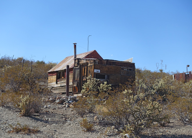Abandoned buildings in the living ghost town of Searchlight, Nevada