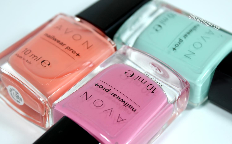 Avon   new Nailwear pro+ Spring shades ~ Glitterfingersss in english