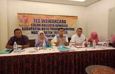 Timsel Serahkan Fit and Proper Test Calon Komisioner Bawaslu Kabupaten Kota ke Bawaslu Provinsi Lampung