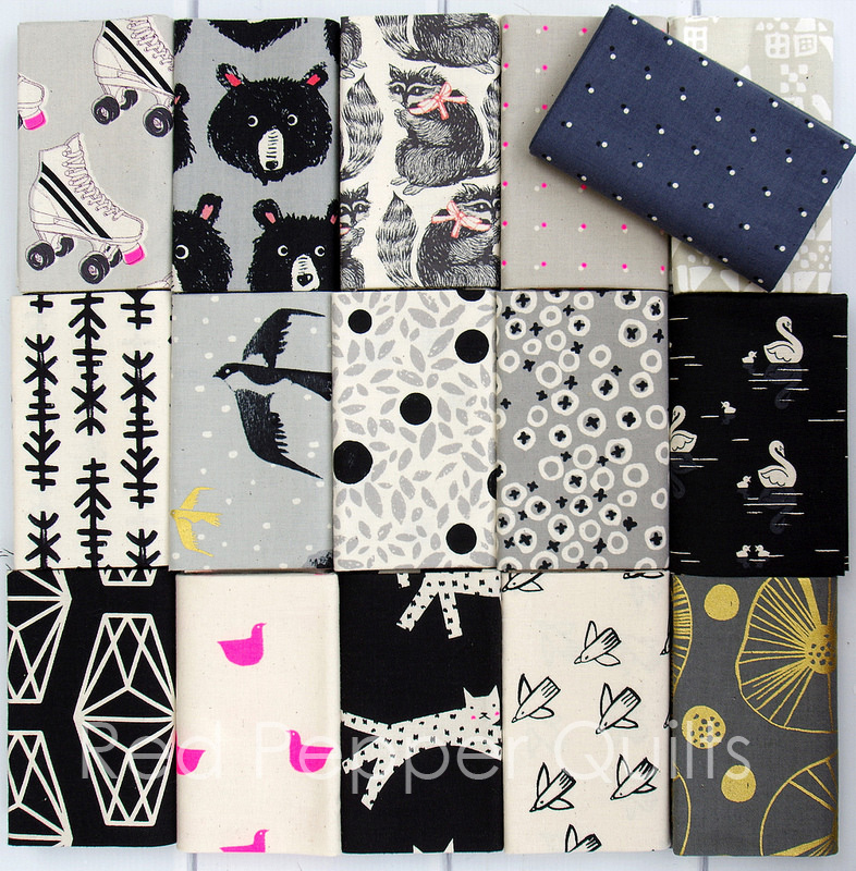 Black and White 2017 Cotton + Steel   © Red Pepper Quilts 2017