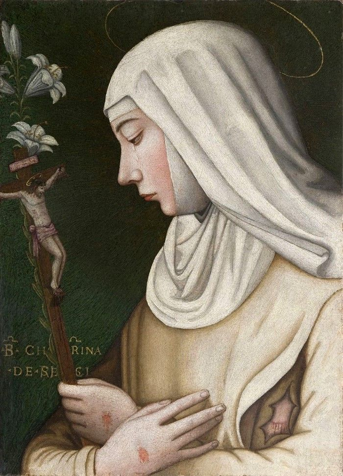 Плаутилла Нелли. Святая Екатерина с цветком