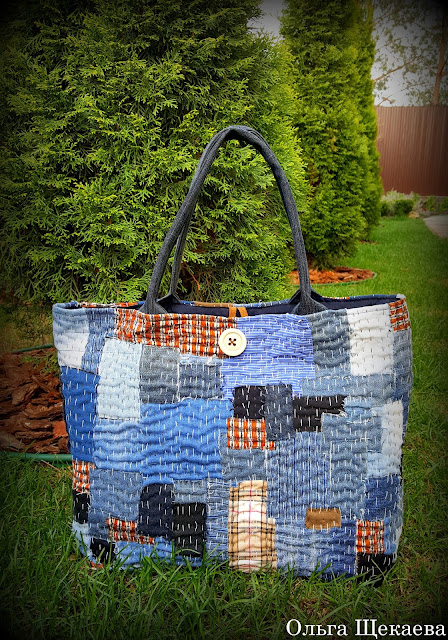 сумка, печворк, боро, джинс, торба, ручнаяработа,