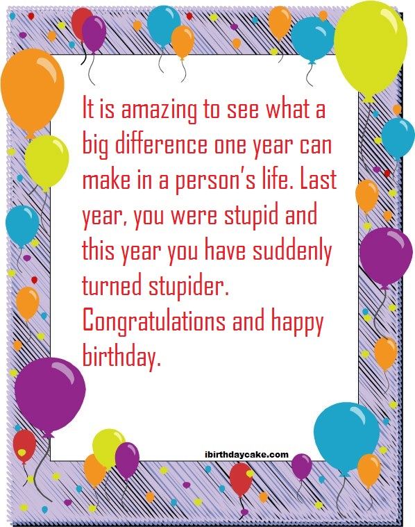 75 Sarcastic Insulting Birthday Wishes For Best Friend 2020