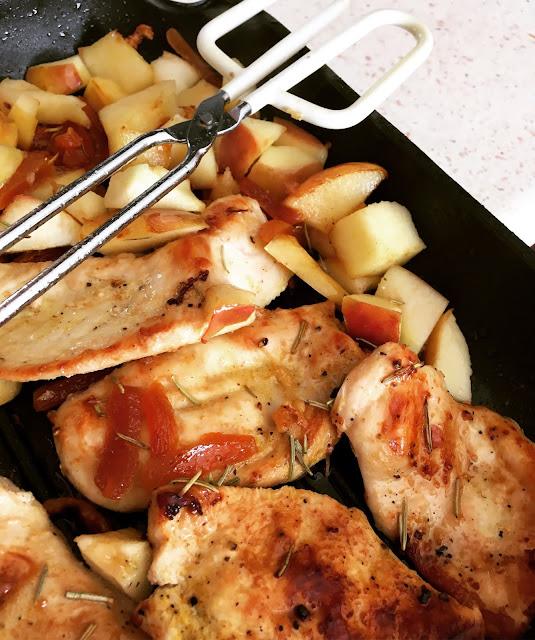 pierś kurczaka grillowana na patelni