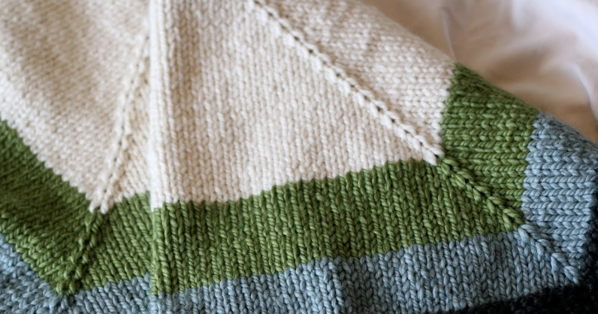 Kate Preston Handknits Blog Color Block Blanket