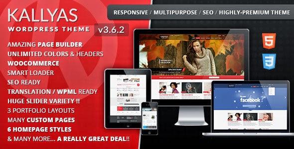 Download Free KALLYAS v3.6.2 Responsive Multi-Purpose WordPress Theme