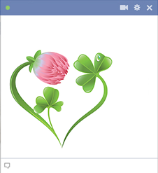 Facebook flower heart emoticon
