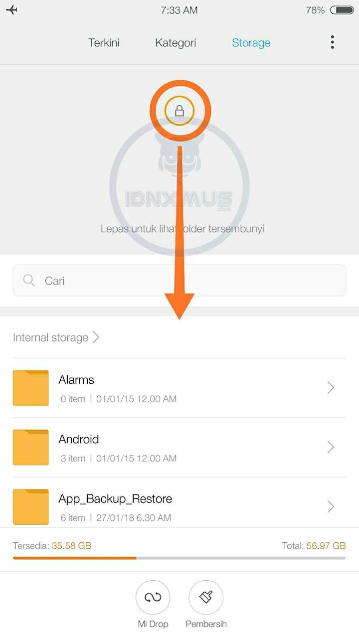 Sembunyikan File Penting HP Xiaomi