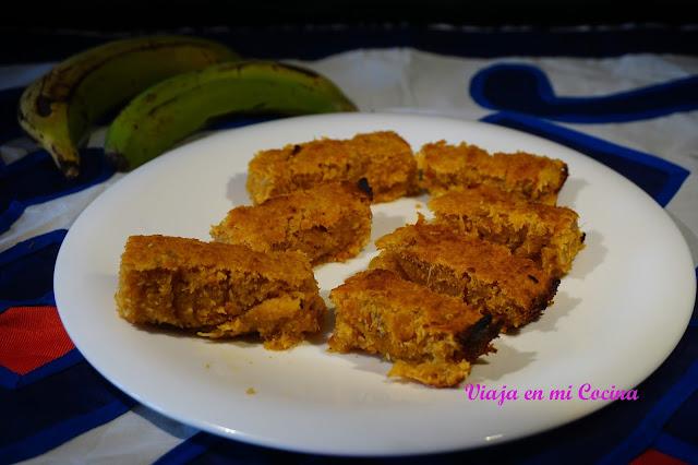 Pudding de coco,yuca y papaya