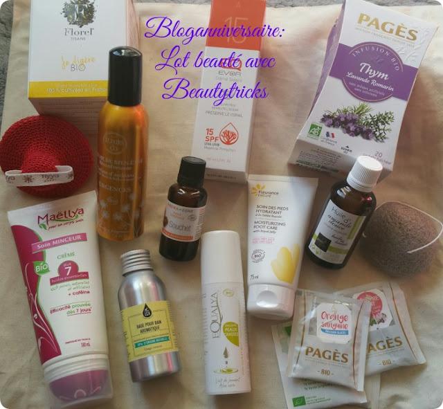 bloganniversaire-lot-produits-beaute-bio-beautytricks