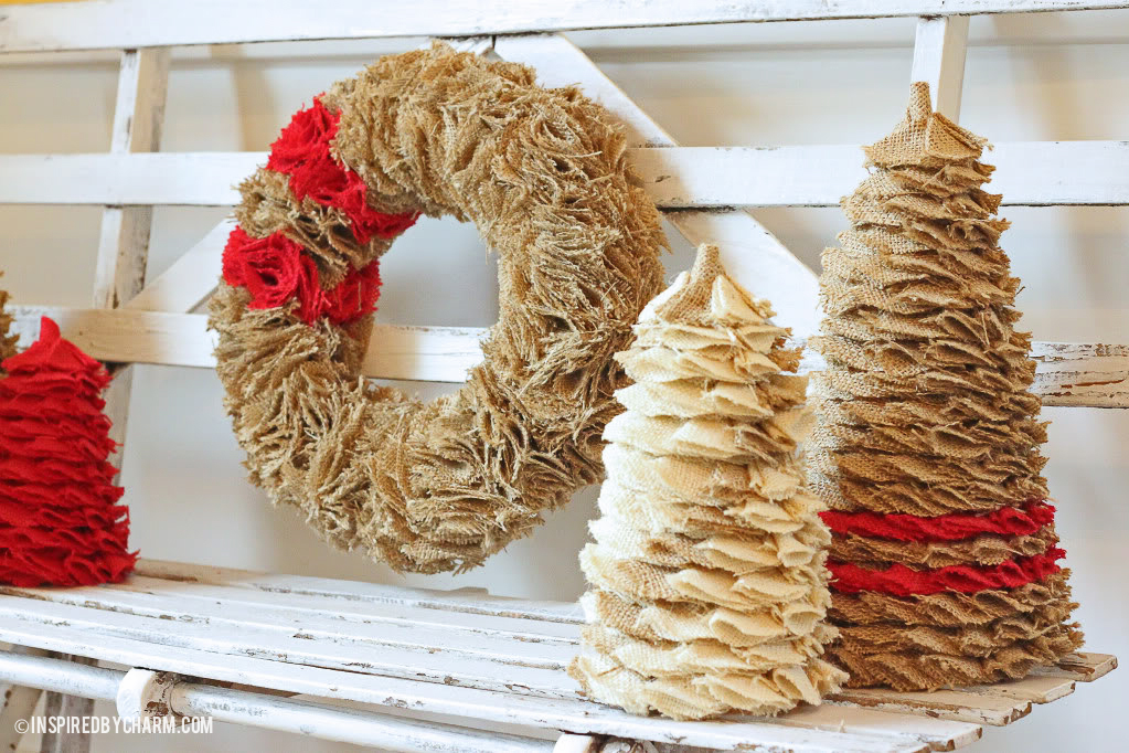 12 Days Of Christmas, Day 2 // Burlap Tree And Wreath Tutorial