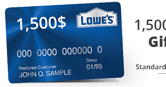 Get a Free $10 Lowe's Gift Card tips