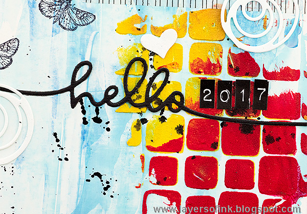 Layers of ink - Wander 365 Art Journal Page by Anna-Karin