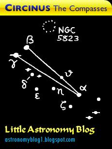 Map image of the constellation Circinus