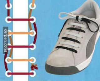 Cara Memasang Tali Sepatu Lurus Berwarna