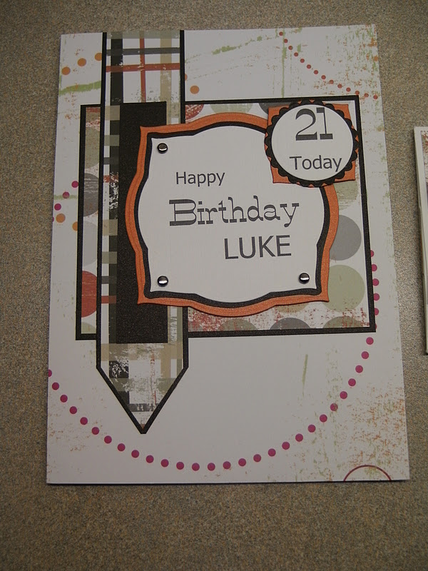 A 21st Birthday Set Using These Fab Male Papers From Junkitz