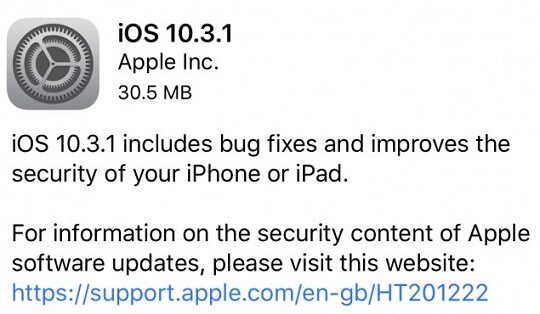 Apple Rolls Out iOS 10.3.1 Update with Bug Fixes and Security Improvements