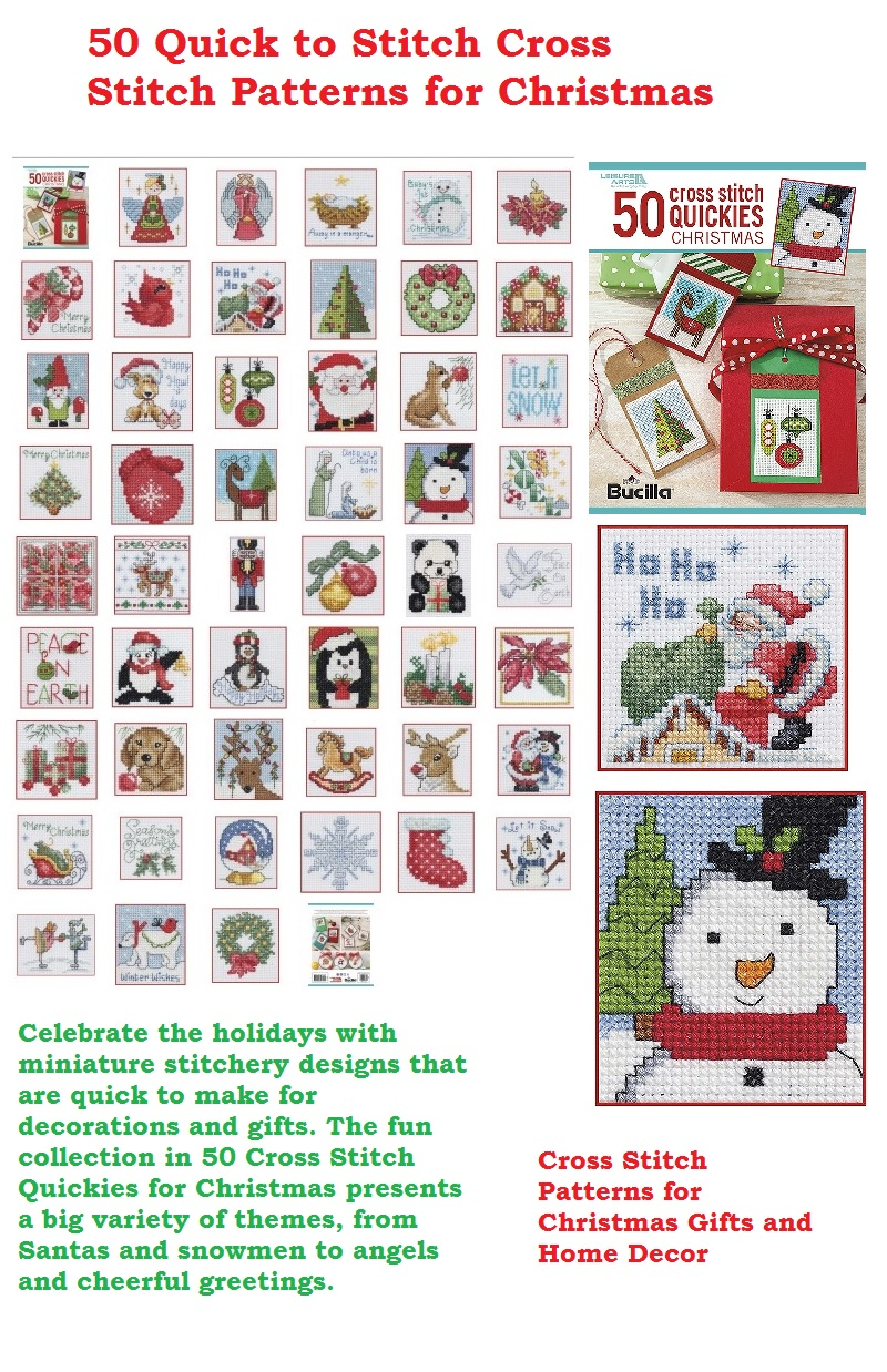 Celebrate the Holidays with 50 Quick to Stitch Cross Stitch Patterns for Christmas