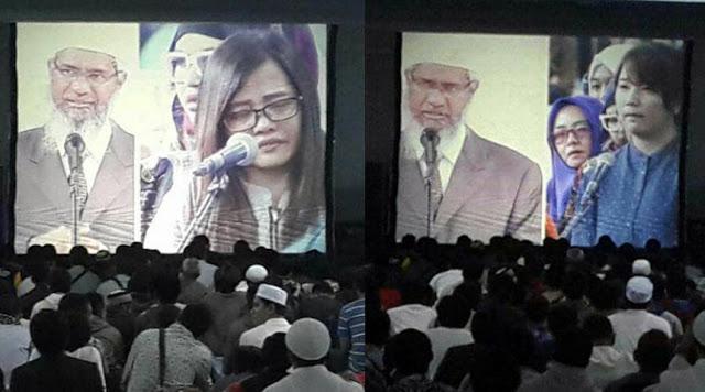 Dr Zakir Naik Bimbing 4 Non-Muslim Ikrar Syahadat di Bandung