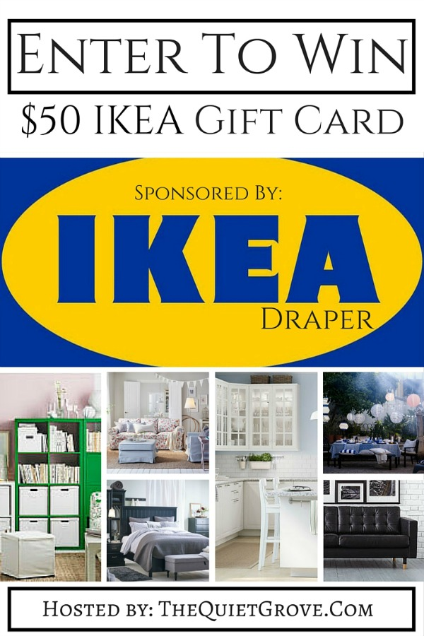 IKEA Gift card giveaway draper utah the quiet grove