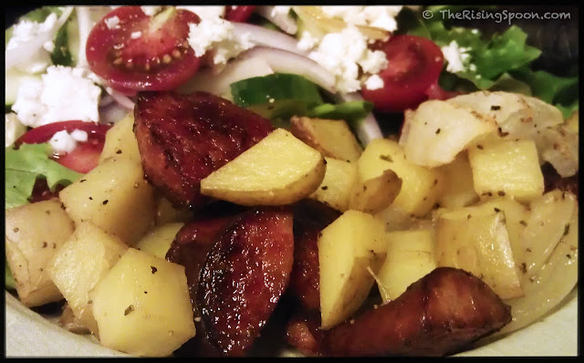 Recipe For Roasted Kielbasa Sausage, Potatoes and Onions